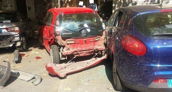 consulenza legale foto dei 3 auto incidentati